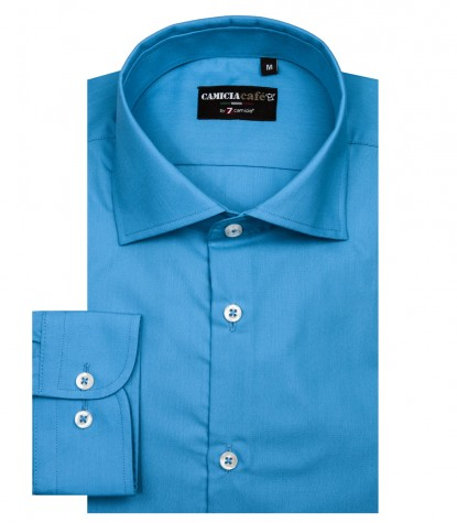 Shirt Firenze Cotton Polyester Turquoise
