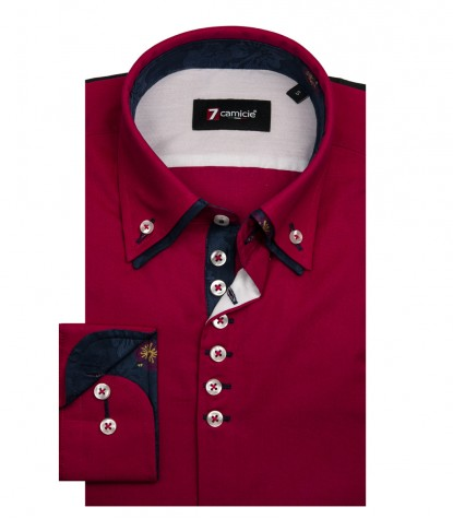 CAMICIA UOMO 1 BOTTONE BUTTON DOWN DOPPIO COLLO
