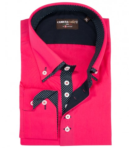 Shirt Marco Polo Cotton Polyester Fuxia