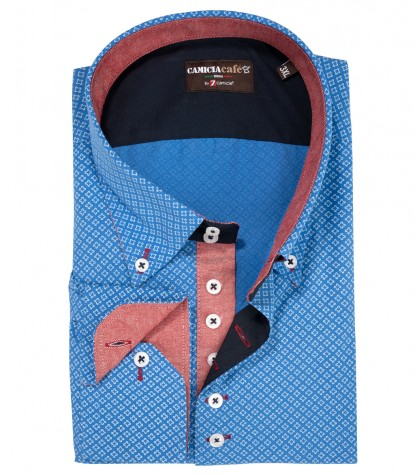 CAMICIA UOMO 2 BOTTONI BUTTON DOWN 7