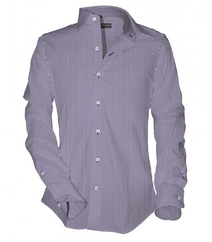 1 Button Narrow Stripe Shirt