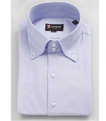 2 buttons man shirt oxford plain blue