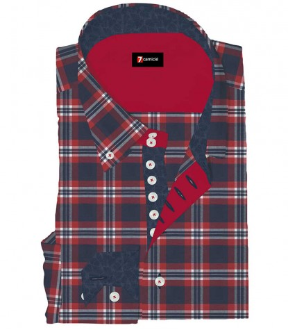 Shirt Roma Oxford Red Blue