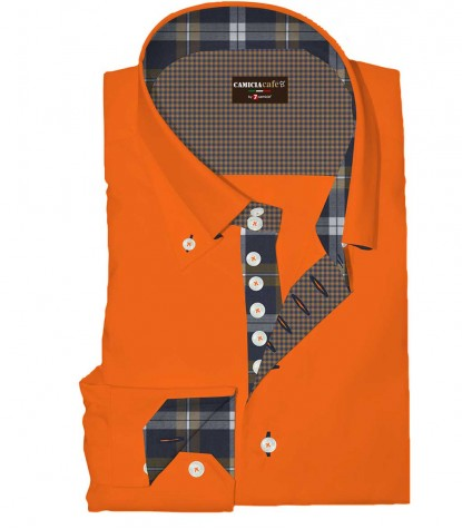 Shirt Roma Cotton Polyester Orange