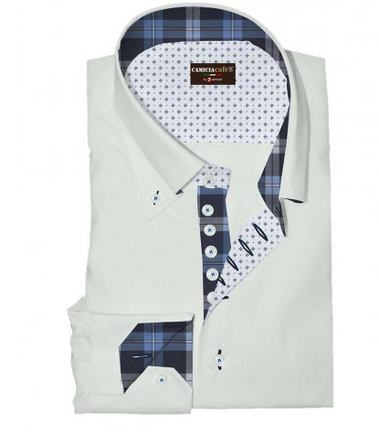 Shirt Roma Cotton Polyester White