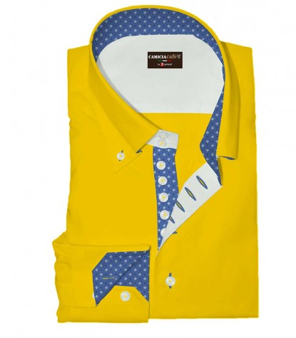 Shirt Roma Cotton Polyester Yellow