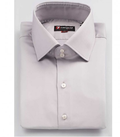 Shirt Man Satin Grey