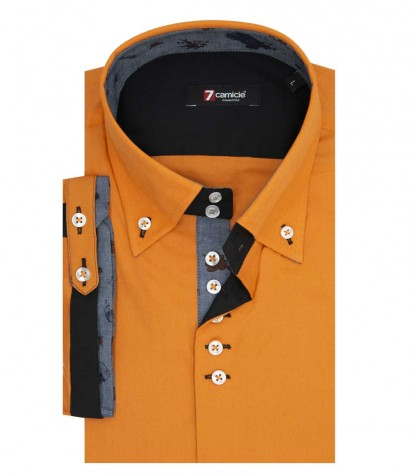 Hemden Roma Stretch-Popeline Orange