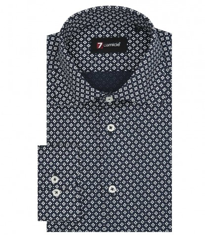 Camicia Firenze Super oxford BluBianco
