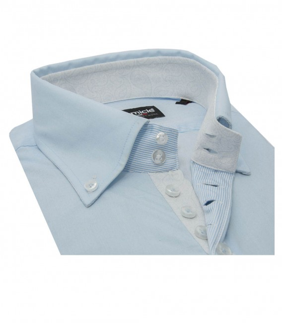 Shirt Roma poplin Light Blue