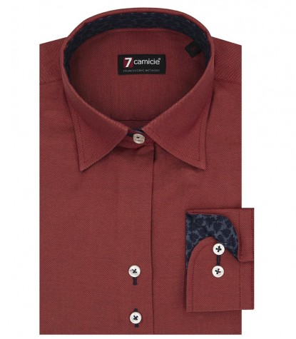 Shirt Linda Oxford brick red