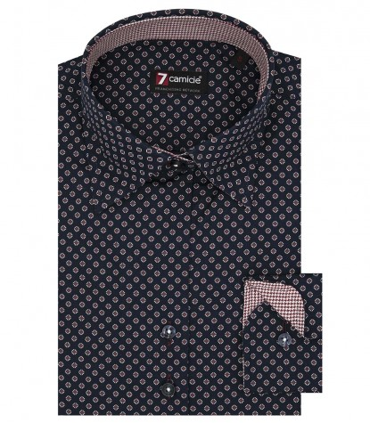 Camicia Linda Oxford Blu Bordeaux