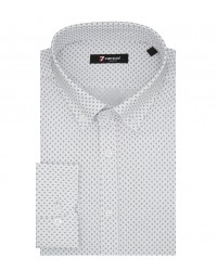 Shirt Leonardo Poplin White Black