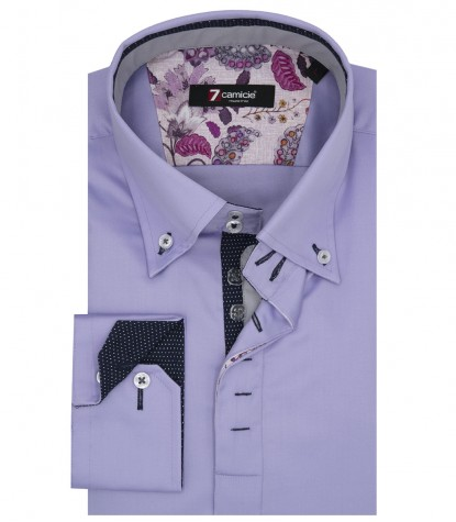 Shirt Roma Satin Liliac