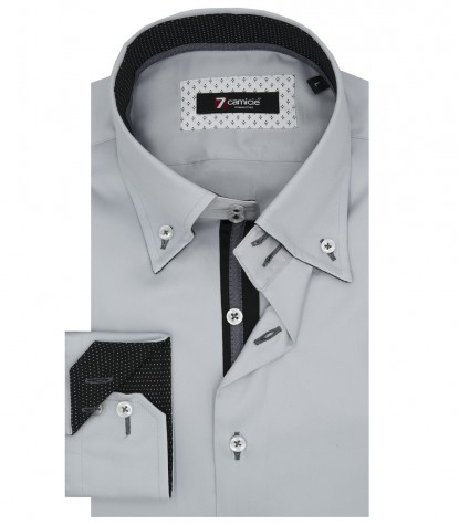 Shirt Roma Satin Grey