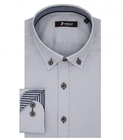 Shirt Leonardo stretch poplin Grey