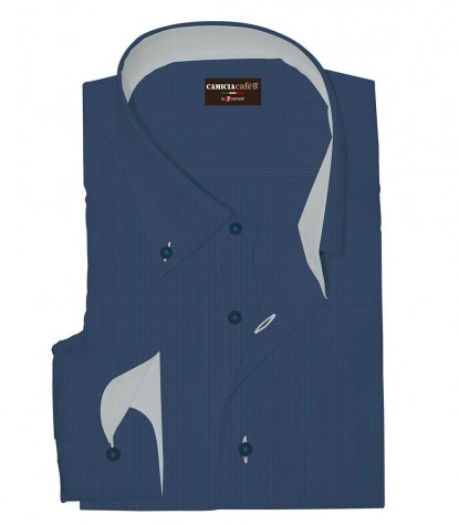 Shirt Leonardo Cotton Polyester Blue-Seaport Blue