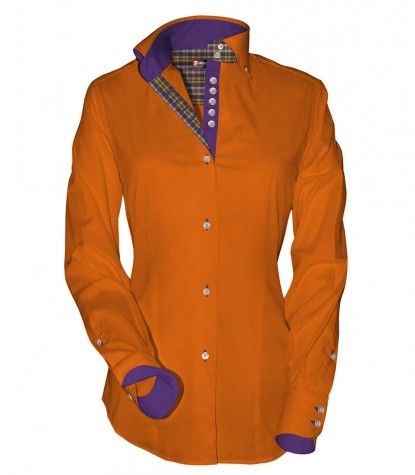 Shirt Silvia Cotton Polyester Orange