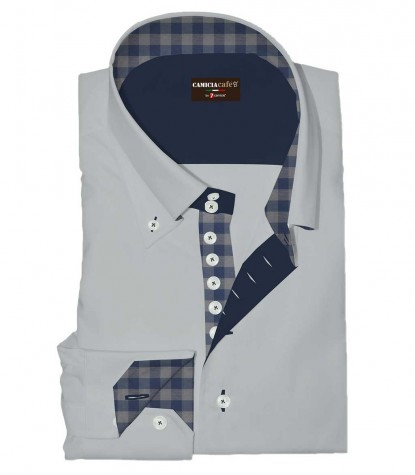 Shirt Roma Cotton Polyester Grey