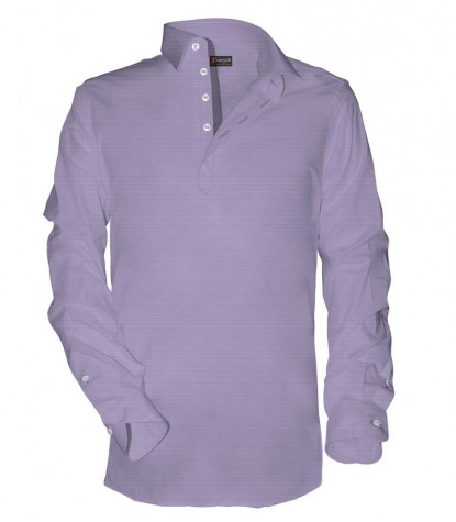 Leonardo Shirt in Purple Cotton