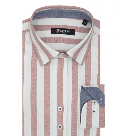 Shirt Linda Oxford White and Red