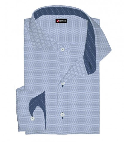 Shirt Firenze Cotton Light Blue White