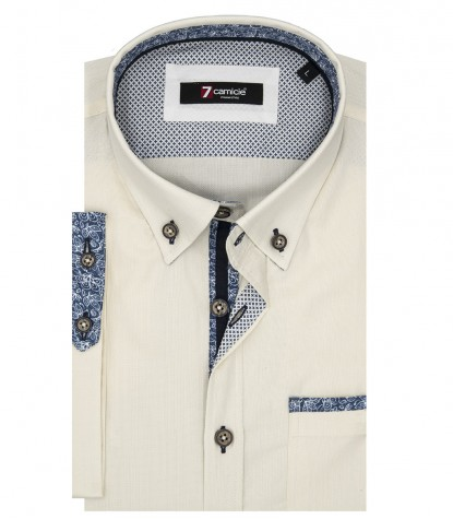 Camisas hombre liso Champagne