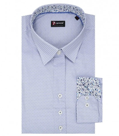 Shirt Linda Cotton Light Blue White