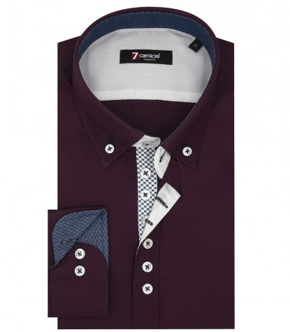 Camisas Donatello Popelín Bordeaux
