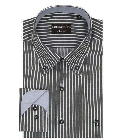 Men's shirt, 1 button, button down, Narrow Line