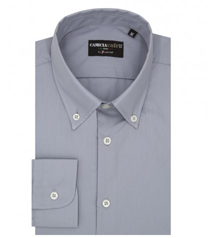 Shirt Leonardo Cotton Polyester Grey