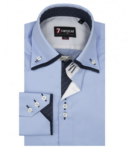 Camicia Uomo Colosseo, 3 bottoni, Satin