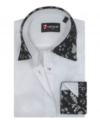 Shirt Linda Satin WhiteBlack