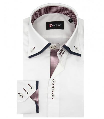 Camicia Uomo Marco Polo 3 bottoni Button Down Doppio Collo Satin