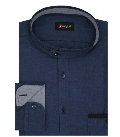 Chemises Caravaggio Oxford avion bleu