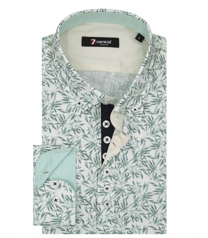 Shirt Donatello Poplin White Green