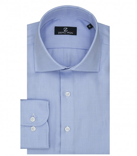 Shirt Firenze Weaved White Light Blue