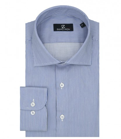 Shirt Firenze Satin WhiteBlue