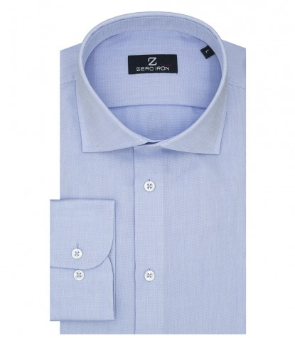 Shirt Napoli Weaved Light Blue