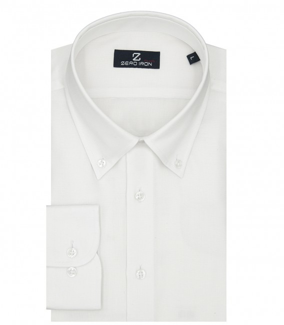 Shirt Bernini Weaved White