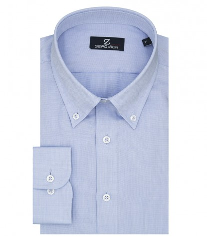 Shirt Bernini Weaved Light Blue