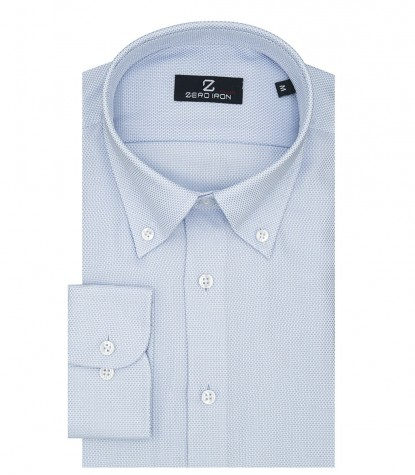 Shirt Bernini Weaved White Light Blue