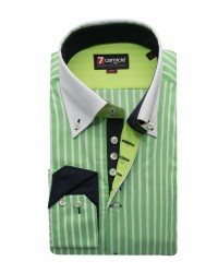 Shirt Roma Poplin Light GreenWhite