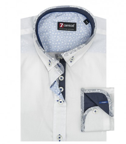 1 Knopf Button-Down Stretch weiß Popeline Frau Shirt