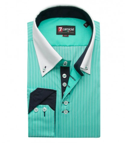 Shirt Roma Poplin Water Green and Water Green