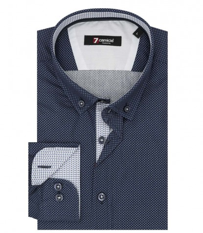 Shirt Leonardo Poplin Blue Light Blue