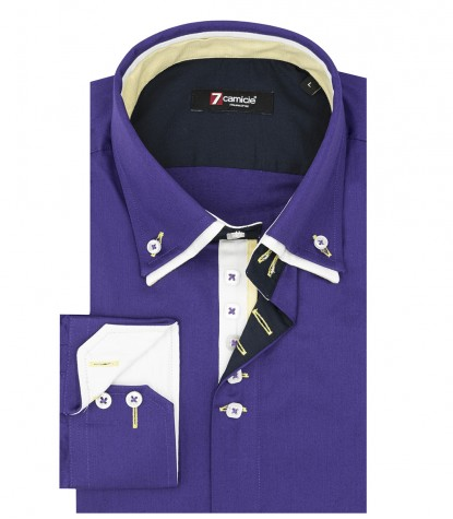 Shirt Marco Polo Satin Violet