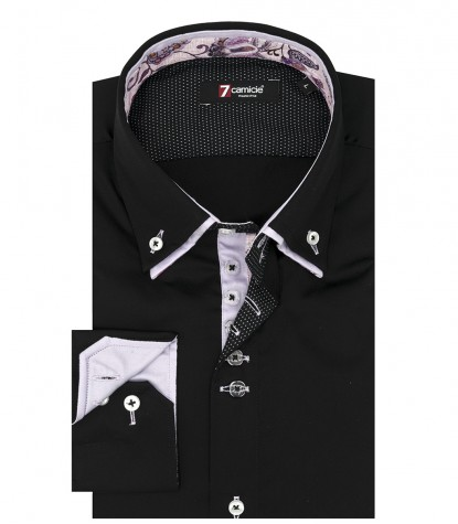 Shirt Marco Polo Satin Black