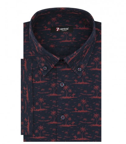 Shirt Men fantasy BlueRed