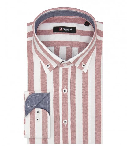 Shirt Leonardo Oxford White and Red